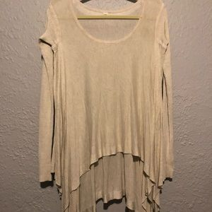 Lululemon cream draped lightweight sweater size 4